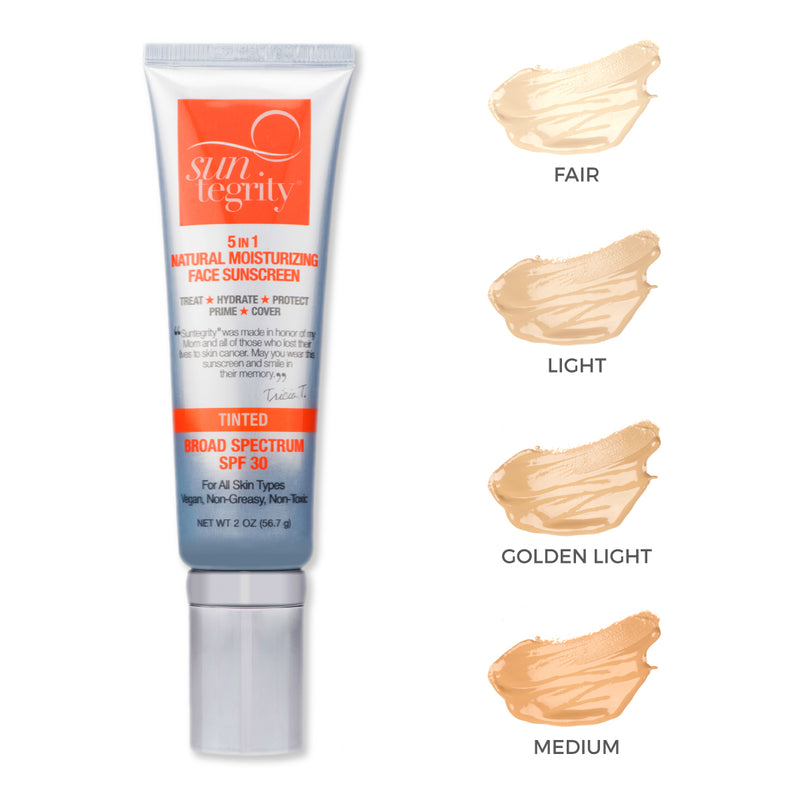 "Suntegrity ""5 In 1"" Natural Moisturizing Face Sunscreen - GOLDEN LIGHT, Broad Spectrum SPF 30"