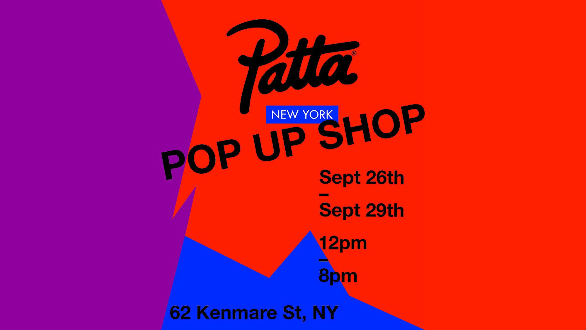 PATTA NEW YORK POP UP SHOP