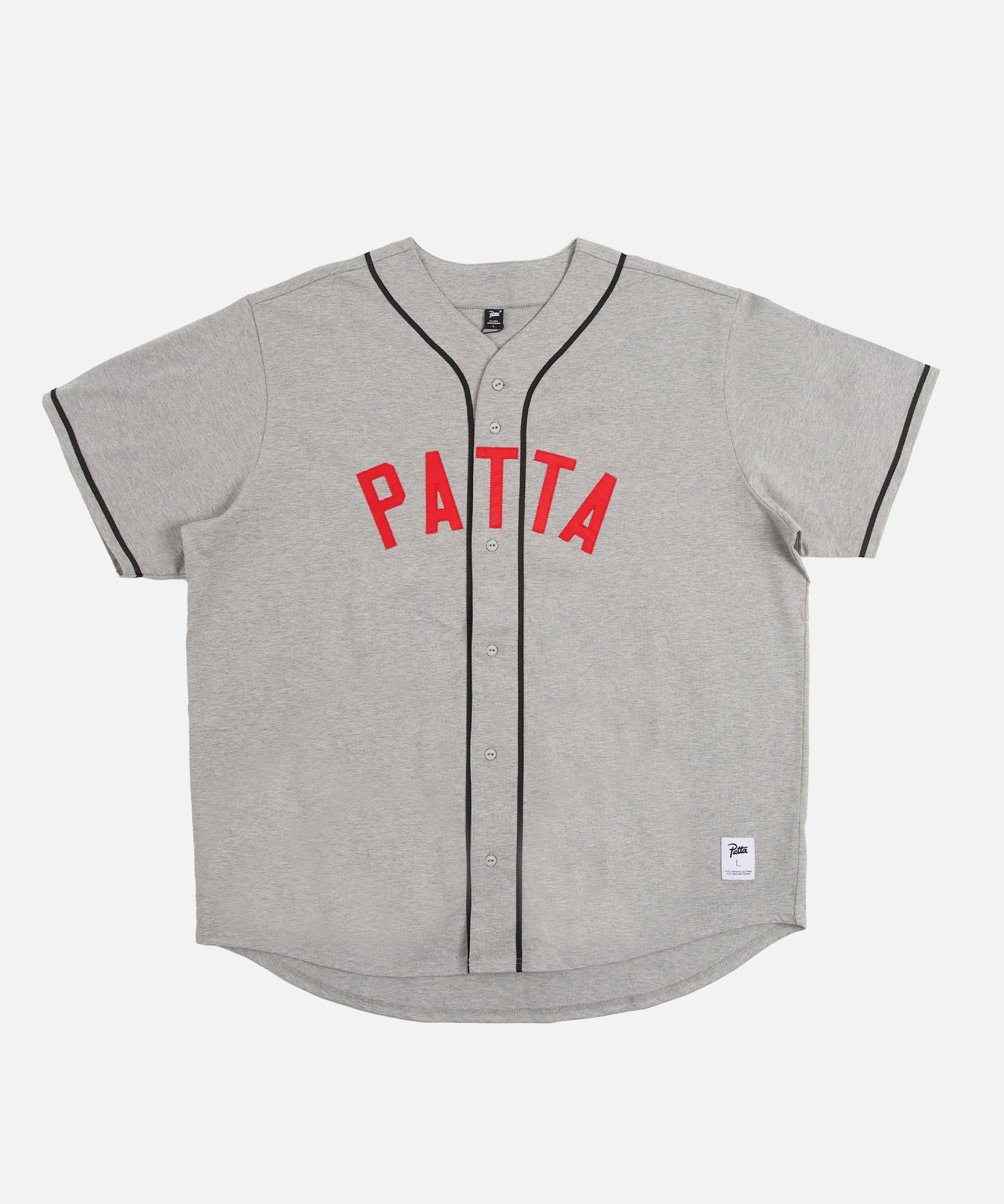 Patta Athletic Logo Baseball Shirt (Melange Grey)