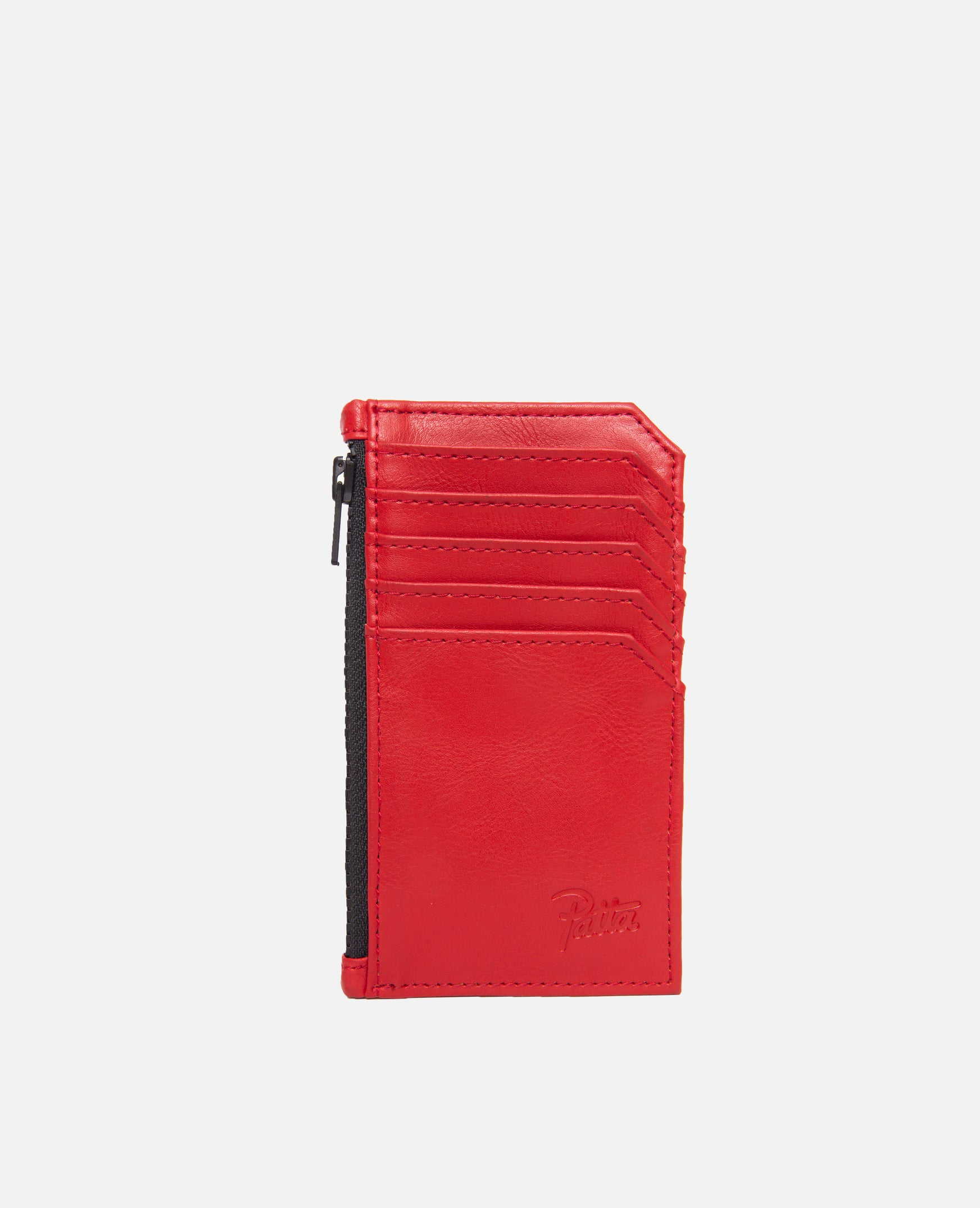 Patta Faux Leather Zip Wallet (High Risk Red)