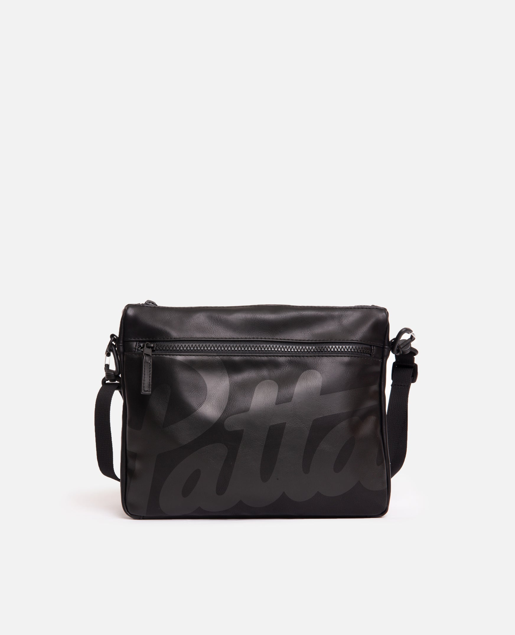 Patta Faux Leather Shoulder Bag (Black)