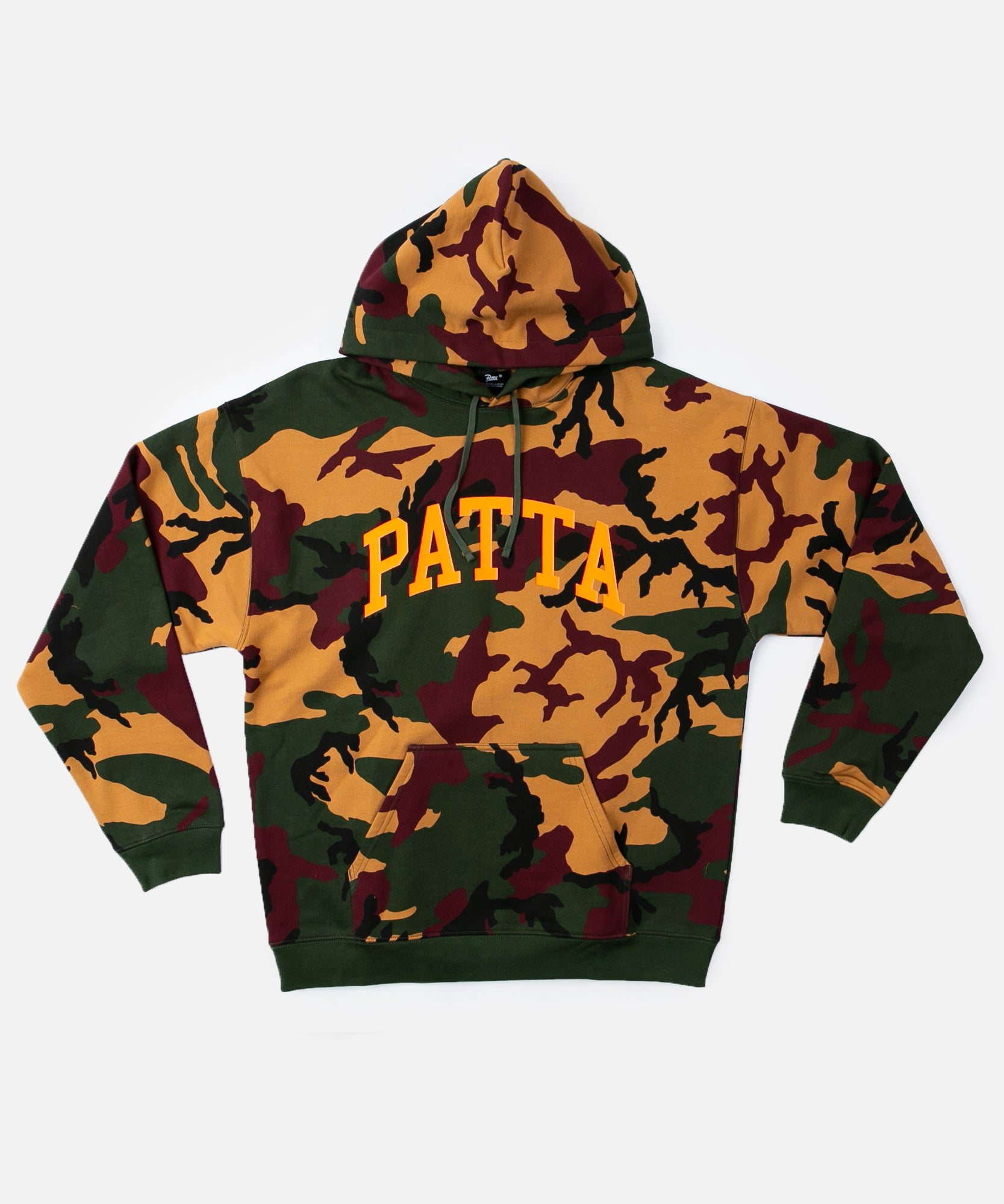 Patta Arc Logo Hooded Sweater (Green Woodland Camo)