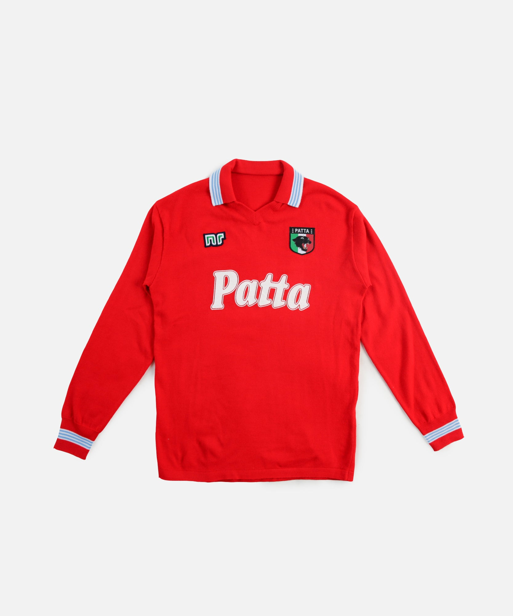 NR x Patta No. 10 Long Sleeve Football Jersey (Napoli Red)