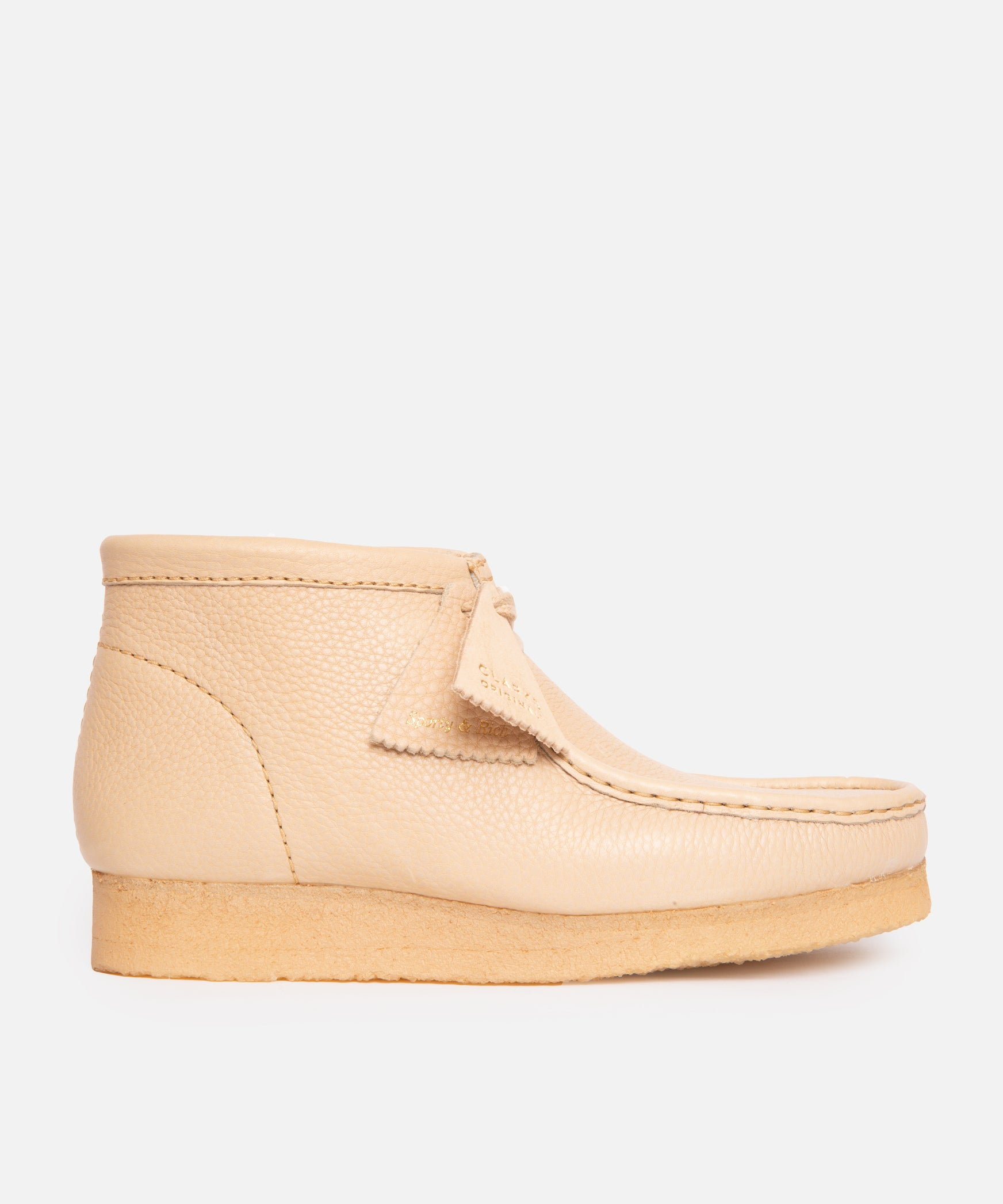 Clarks x Sporty & Rich Wallabee Boot (Off White Leather)