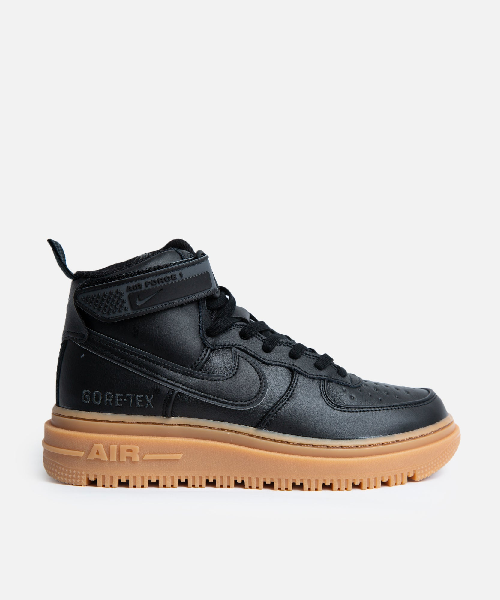 Nike Air Force 1 GTX Boot (Black/Black-Anthracite-Gum Med Brown)