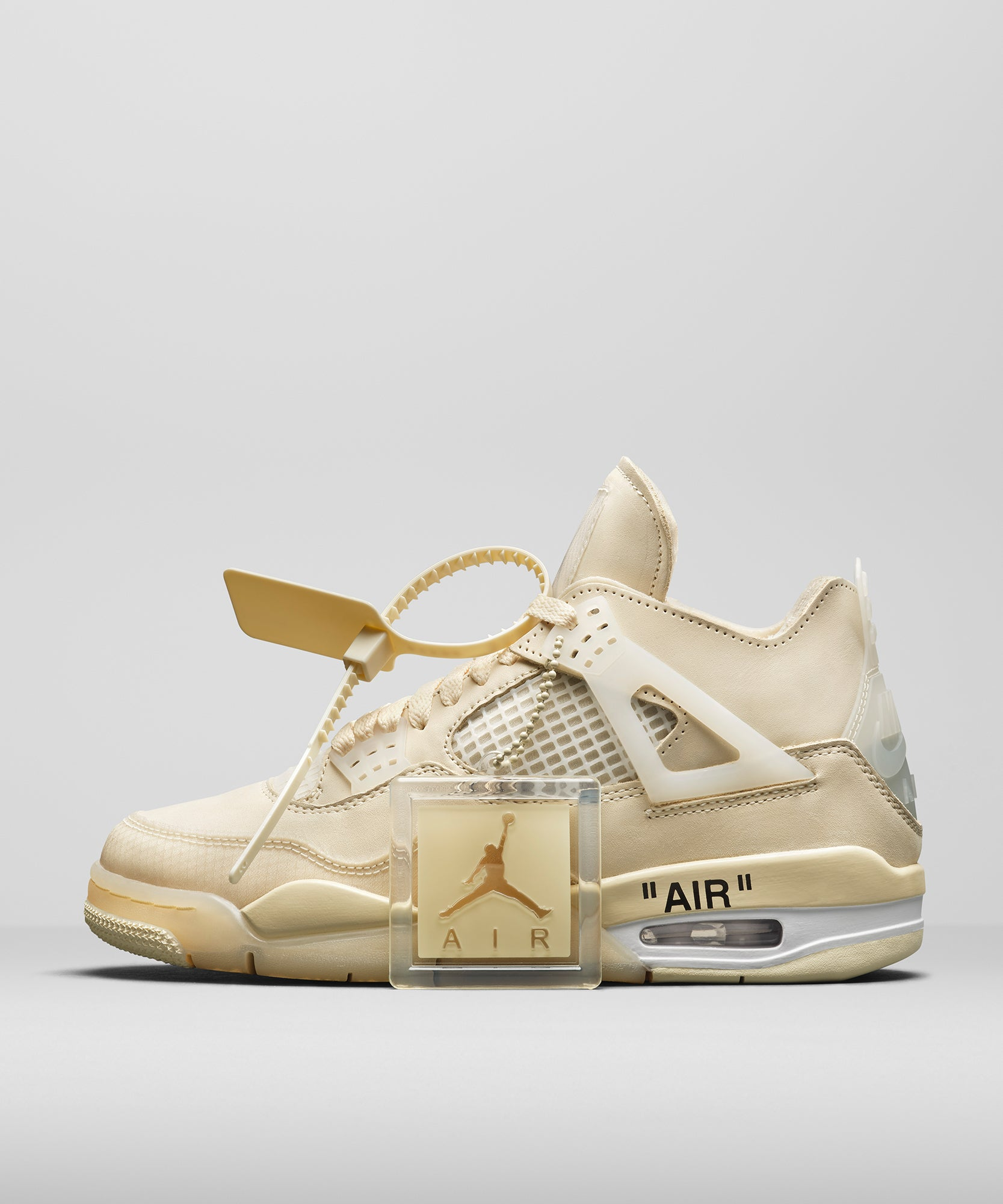 Air Jordan 4 WMNS x Off White (Sail/Muslin-White-Black)