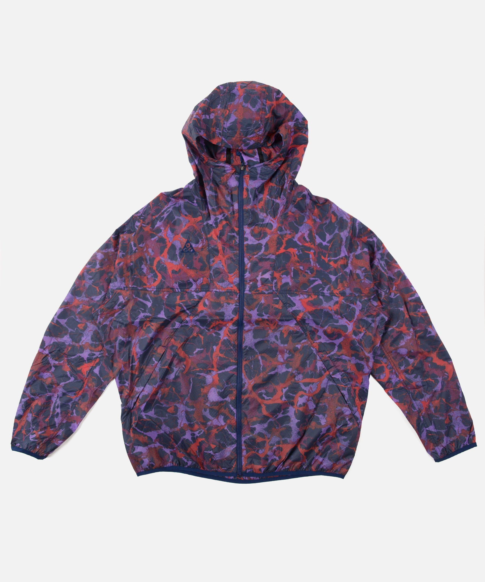 Nike ACG Lightweight AOP Jacket (Blue Void/Habanero Red)
