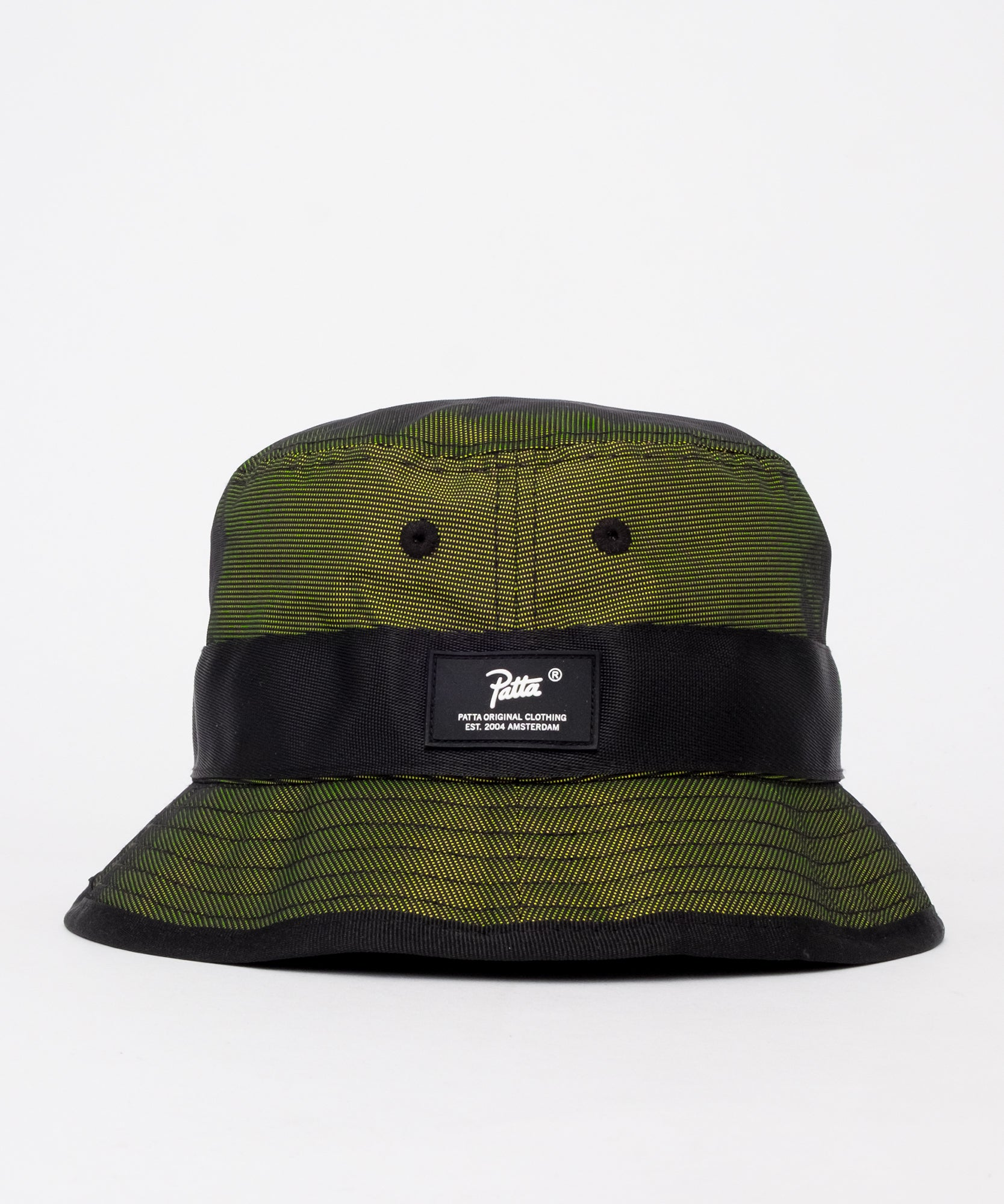 Patta Hi-Vis Bucket Hat (Black/Safety Yellow)