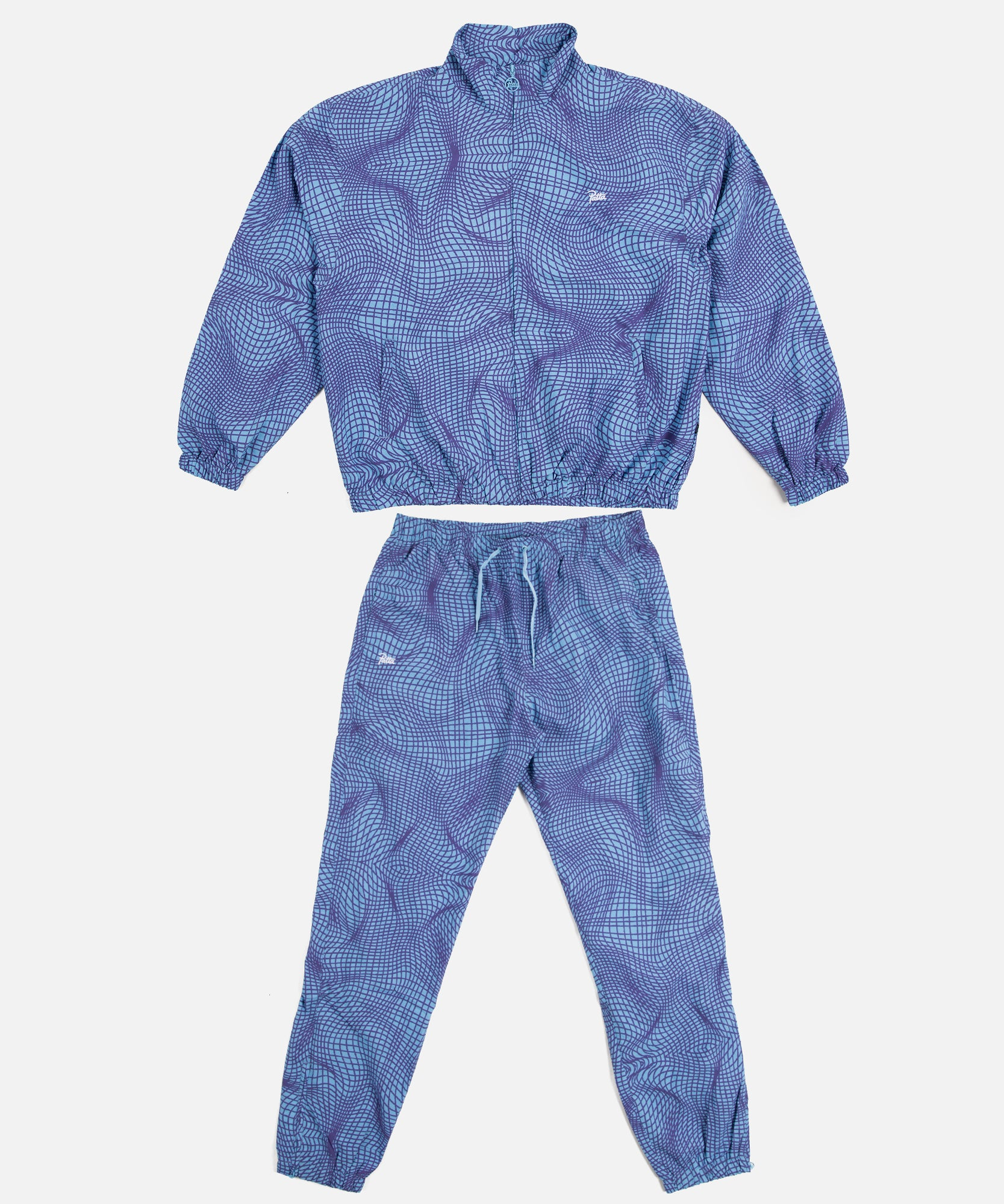 Patta Grid Relaxed Tracksuit (Alaskan Blue/Amaranth Purple)