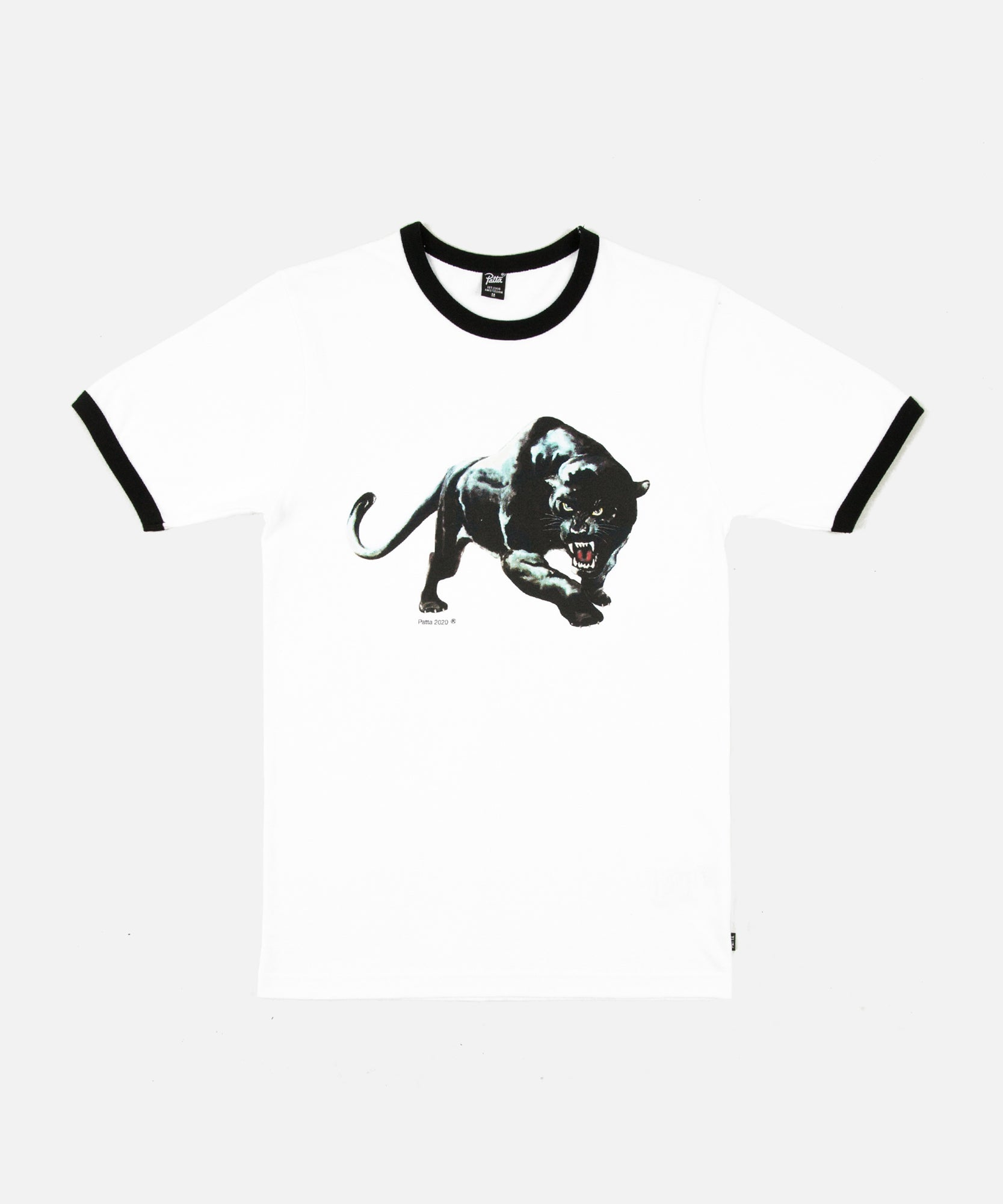 Patta Panther Ringer T-Shirt (White/Black)