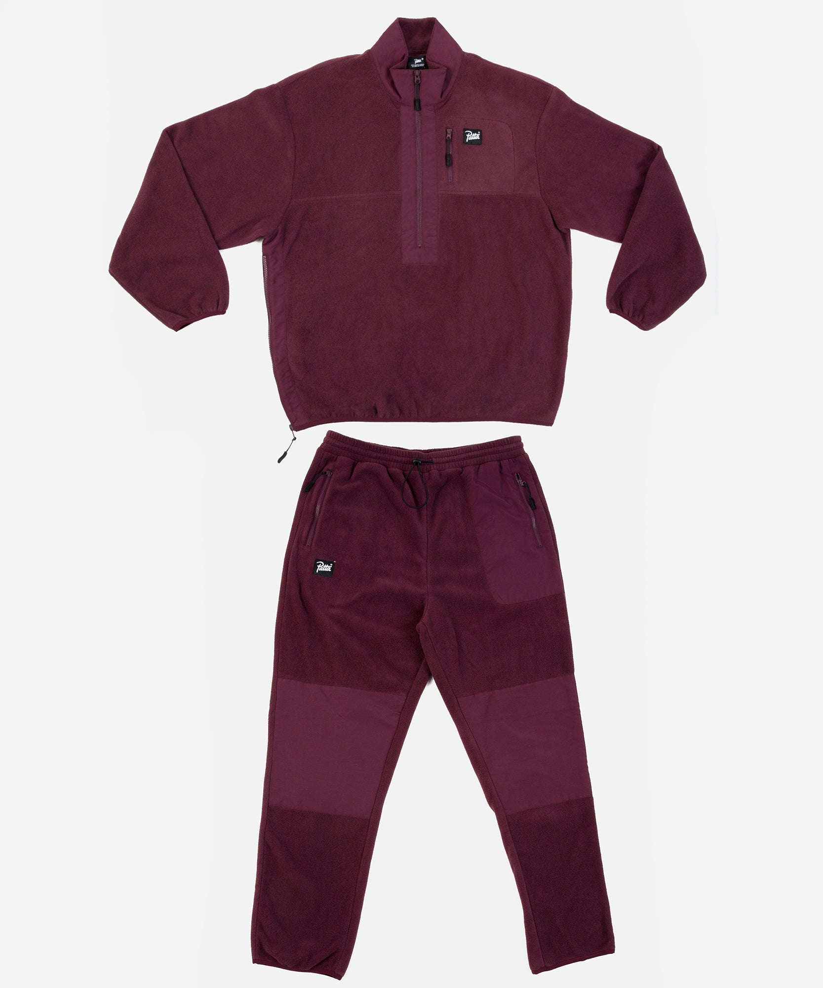 Patta Polartec Fleece Tracksuit (Port Royal/Eggplant)