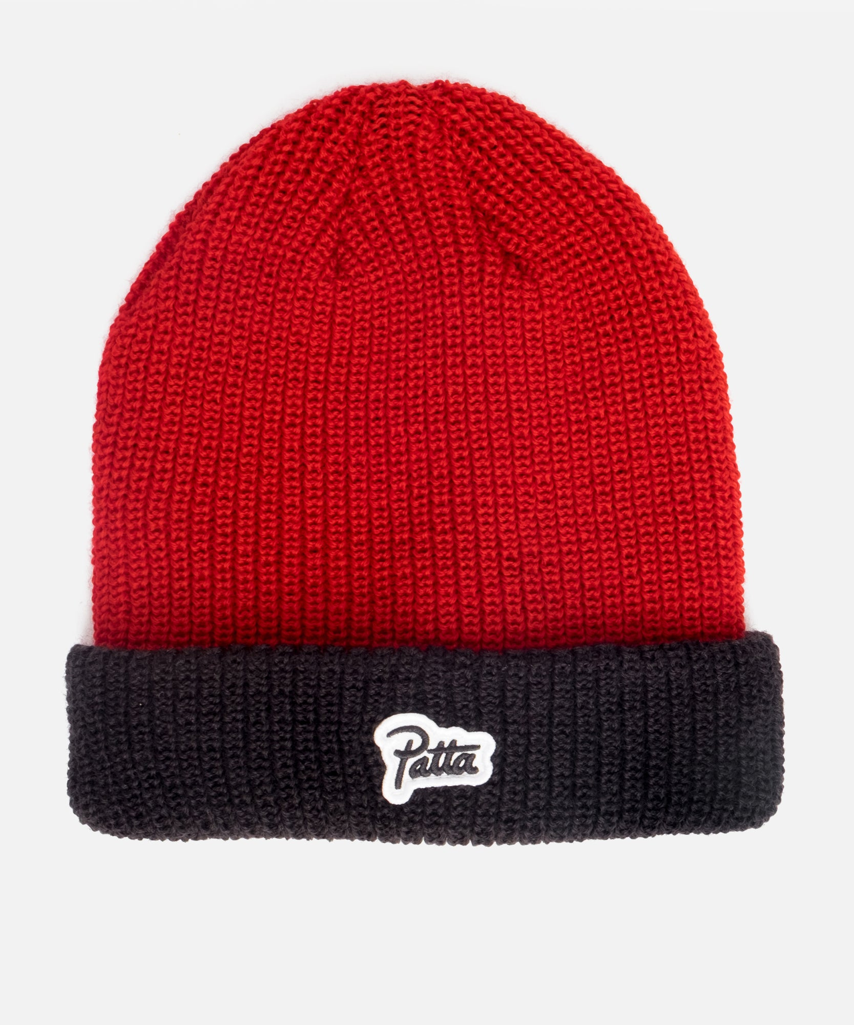 Patta Ribbed Knit Contrast (High Risk Red/Black)