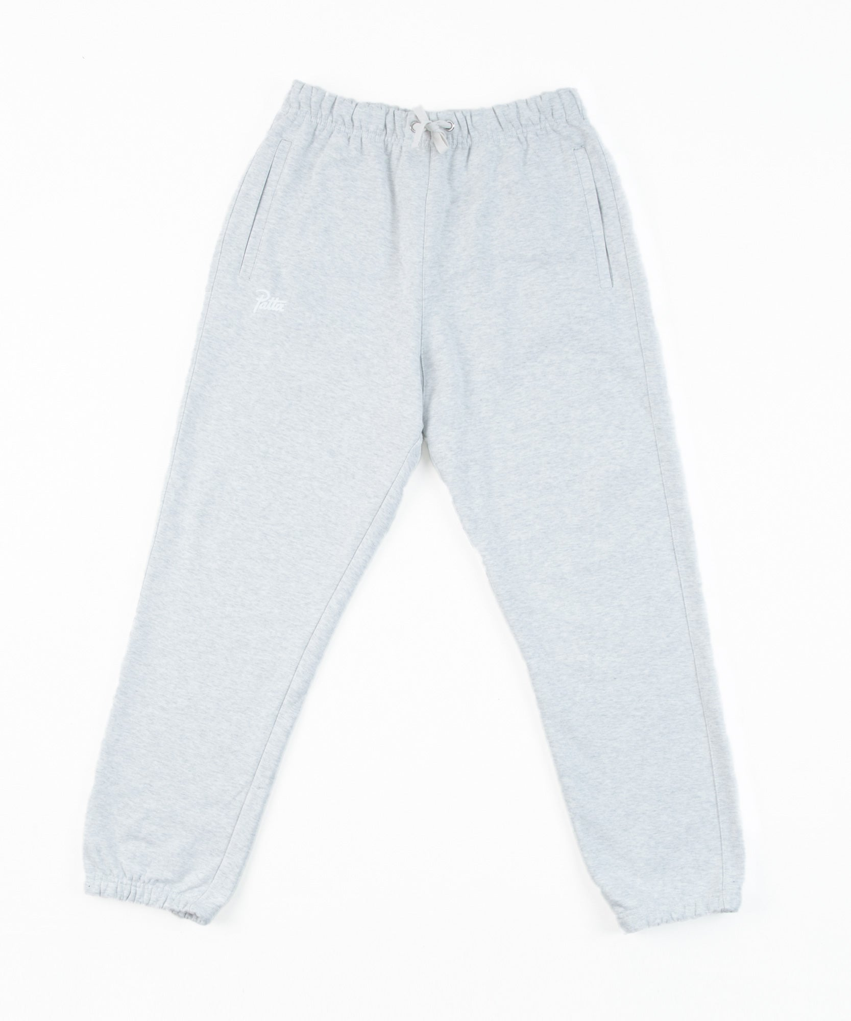 Patta Basic Jogging Pants (Snow Melange Grey)