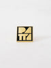 Patta Block Logo Pin (Scarab/Gold)