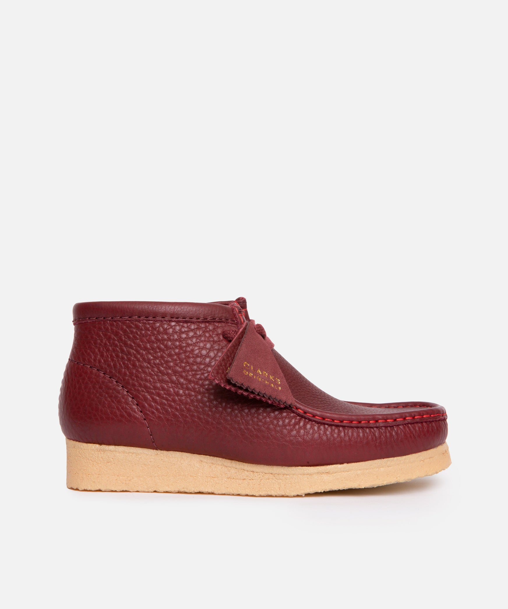 WMNS Clarks x Sporty & Rich Wallabee Boot Leather (Burgundy Leather)