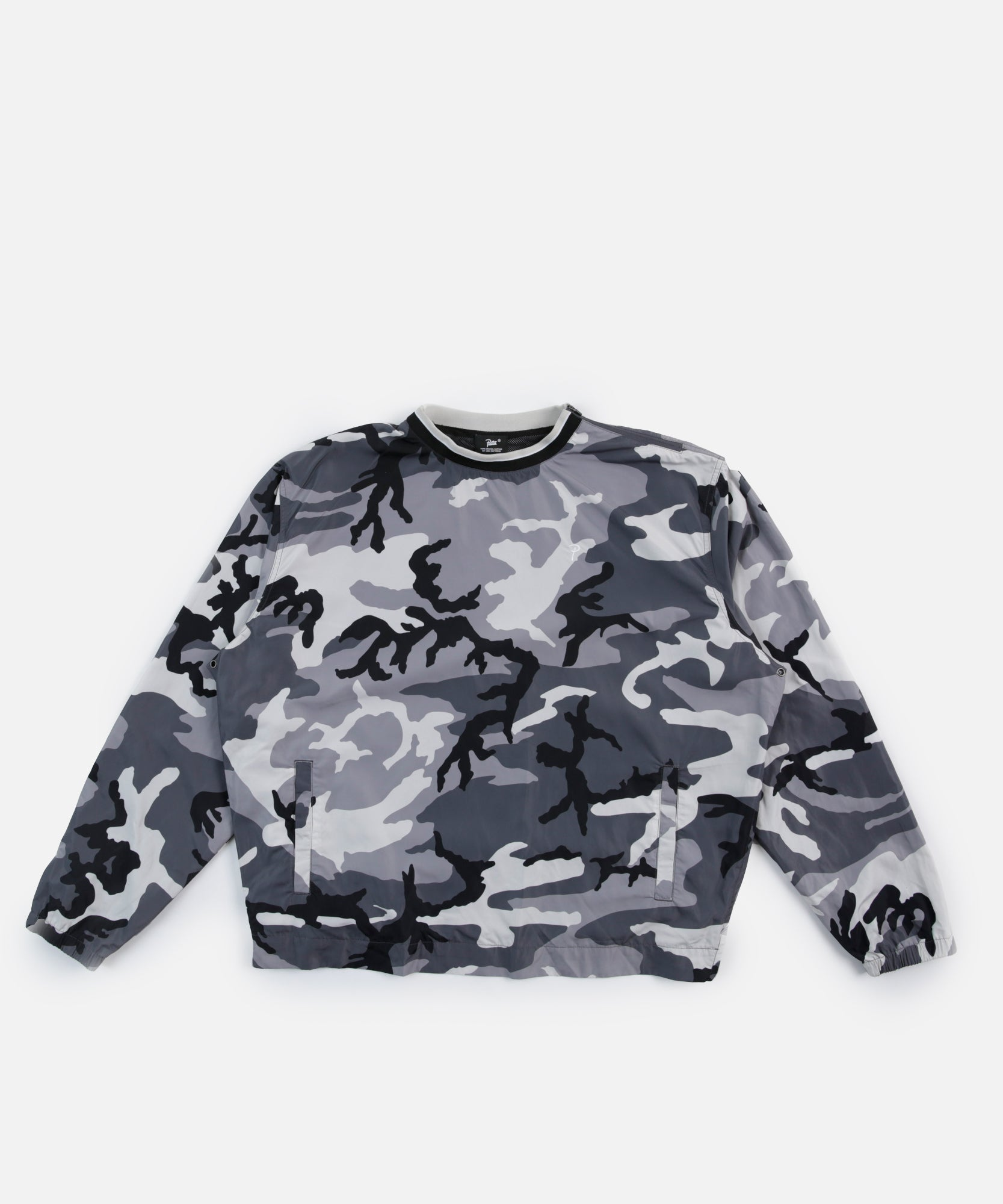 Patta Shell Pullover (Grey Woodland Camo)