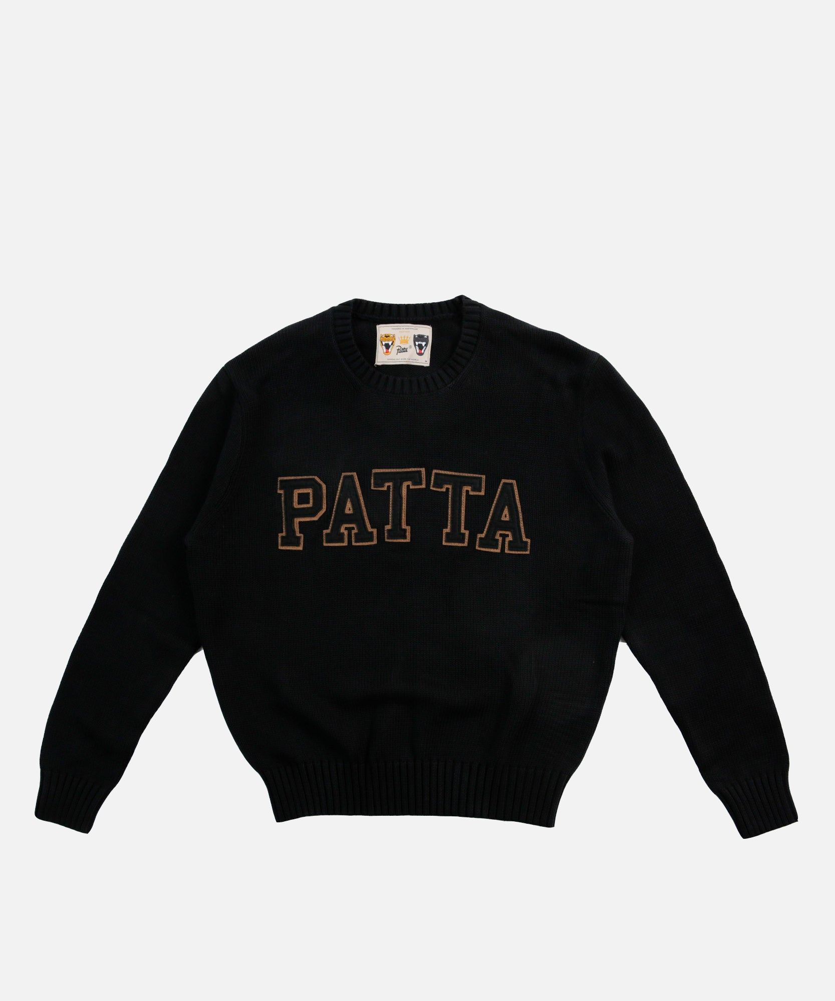 Patta University Knitted Sweater (Black)