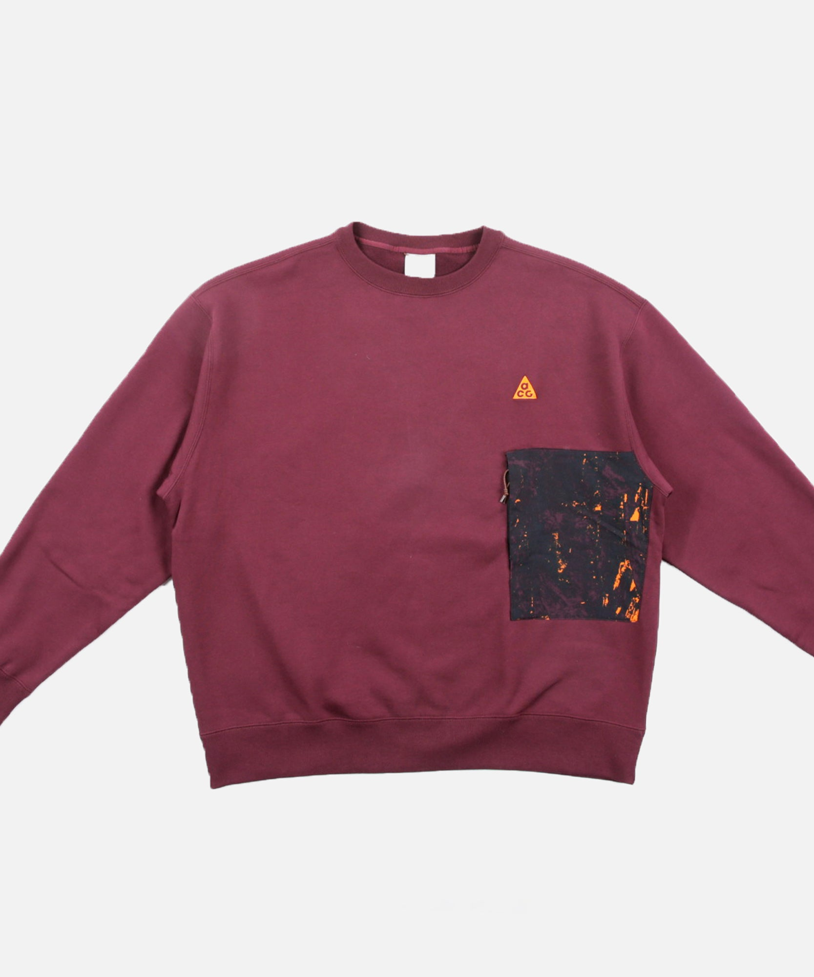 Nike NRG ACG AOP Crewneck Sweater (Night Maroon)