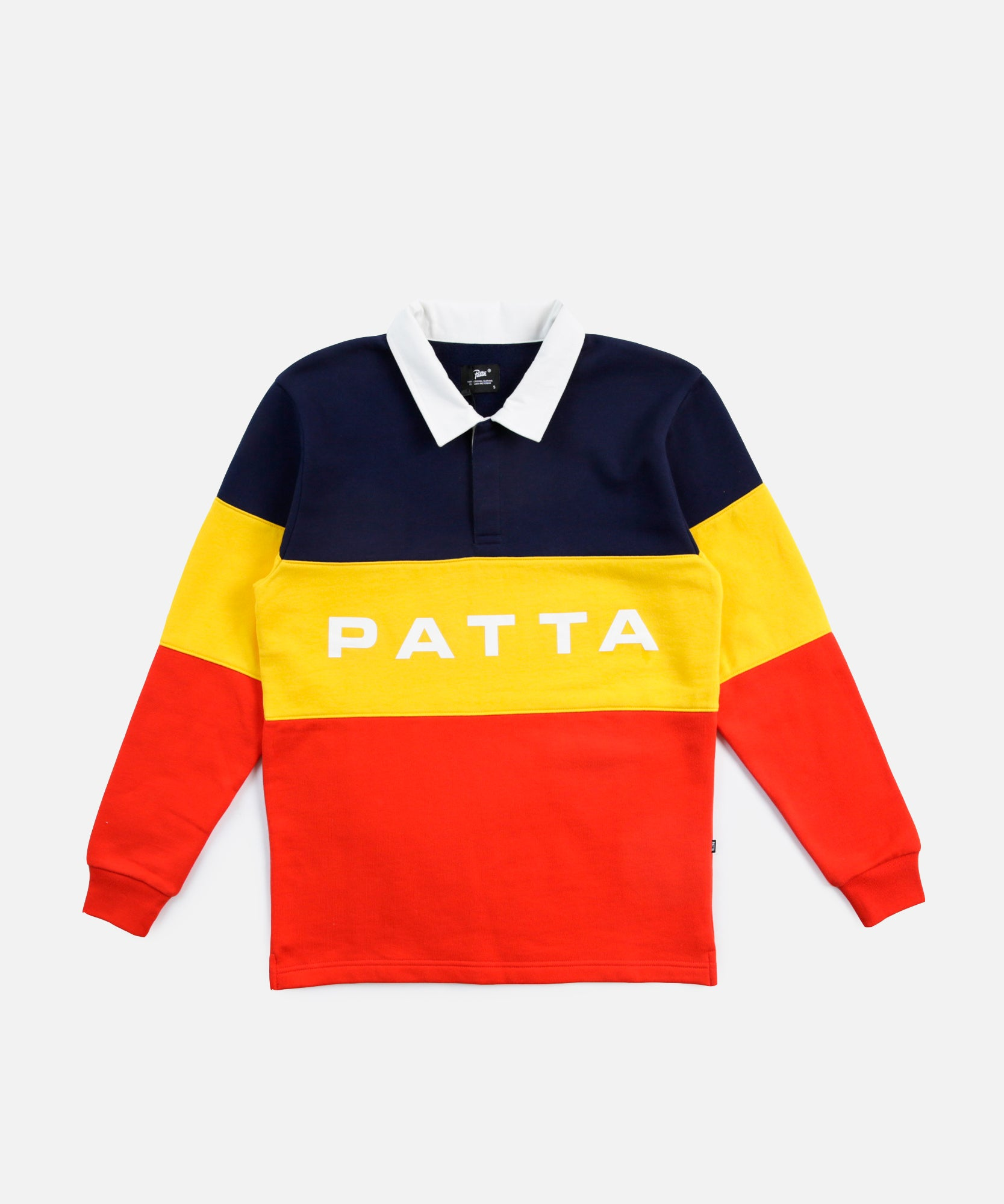 Patta Puff Print Polo Sweater (Fiery Red)