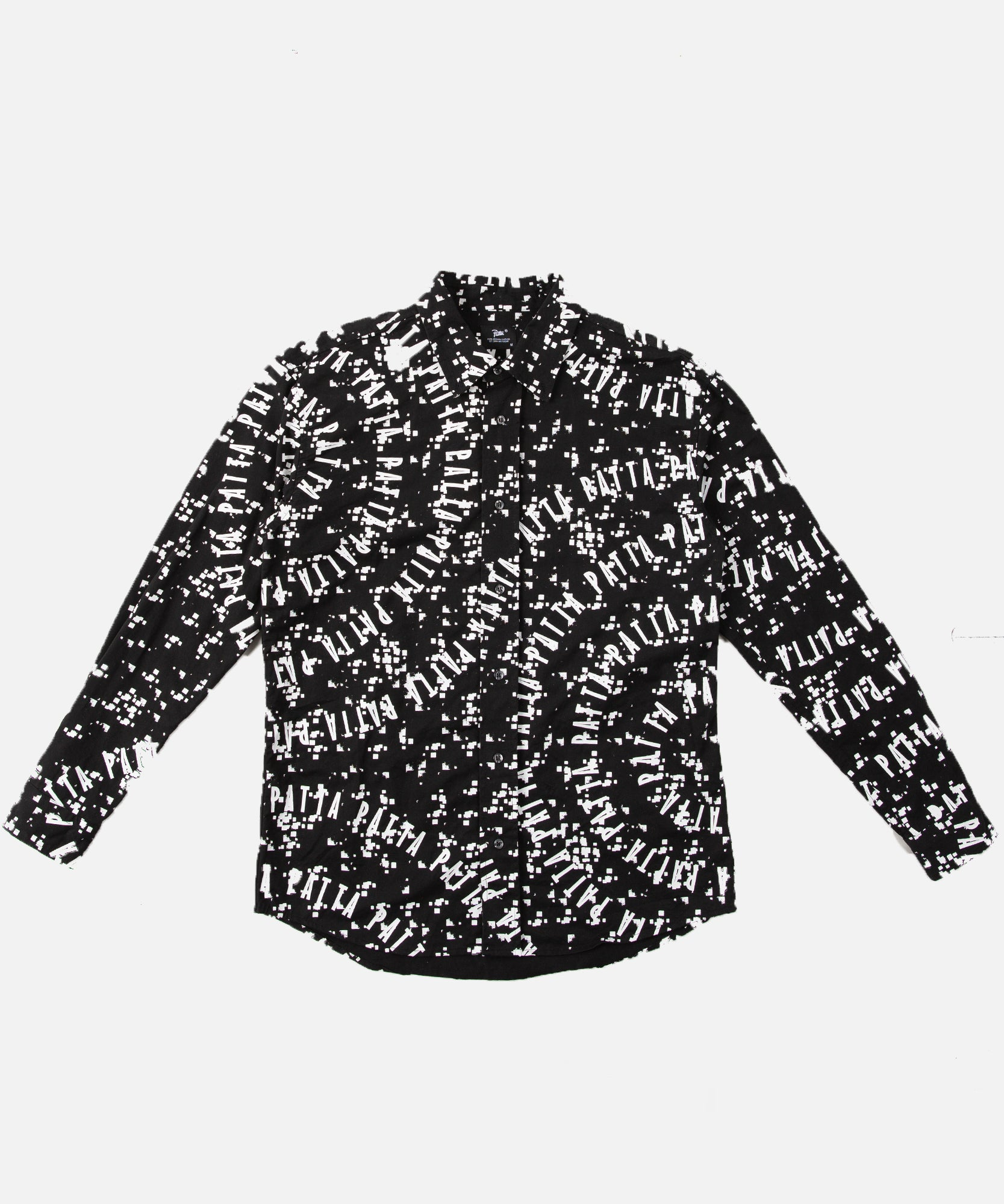Patta Universe Relaxed Button Down Shirt (Black/White)