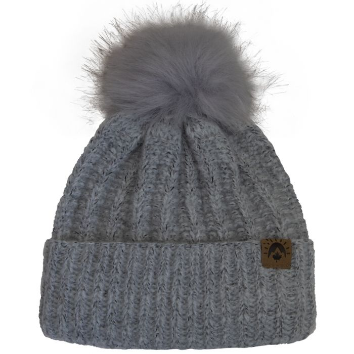 Calikids Mom & Me Knit Pompom Winter Hat - Grey W2028