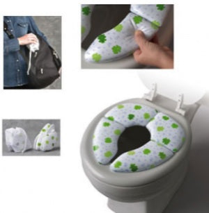 Mommy's Helper Froggie Cushie Traveler Folding Padded Potty Seat