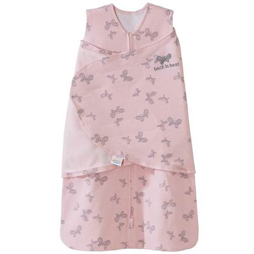Halo SleepSack Swaddle Cotton Pink Butterfly Scribble 1.5 TOG
