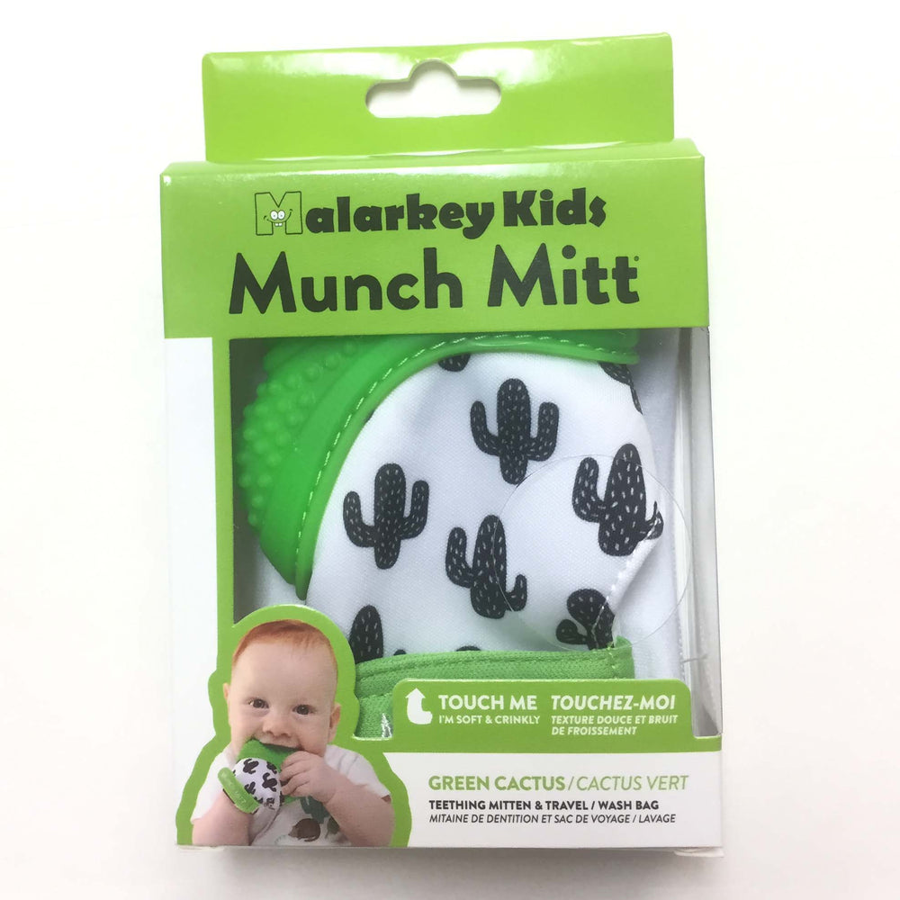 Munch Mitt Baby Teething Mitten Green Cactus