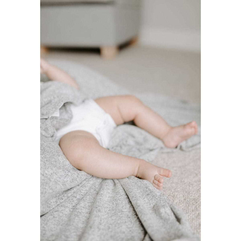 Aden + Anais Snuggle Knit Swaddle Blanket Heather Grey