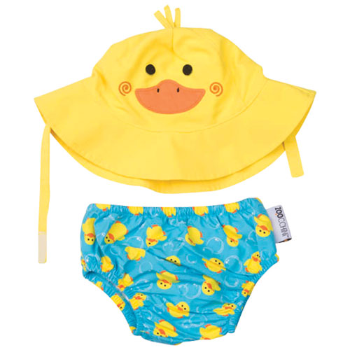 Zoocchini Swim Diaper & Sun Hat Set - Duck