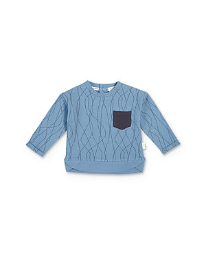 Miles Baby Sweat Shirt Knit Blue 12M/18M/24M