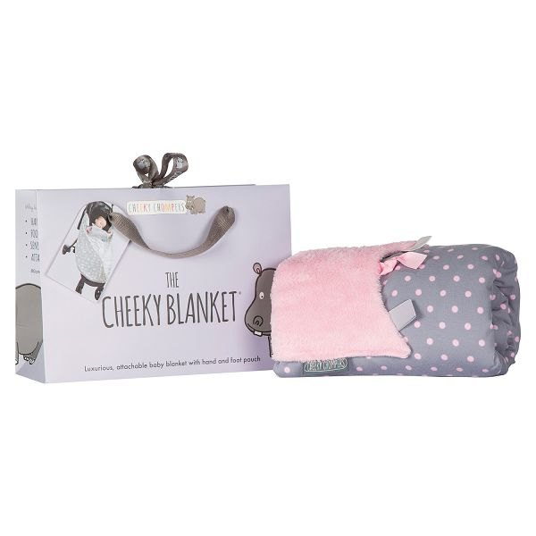 Cheeky Chompers Cheeky Blanket - Polka Dot Pink