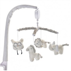 Living Textiles Musical Mobile Set Wool Owl