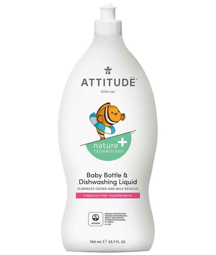 Attitude Dishwashing Liqud Baby Fragrance-Free 700ML 137265