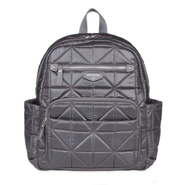 Twelve Little Companion Diaper Bag Backpack - Grey/Platinum