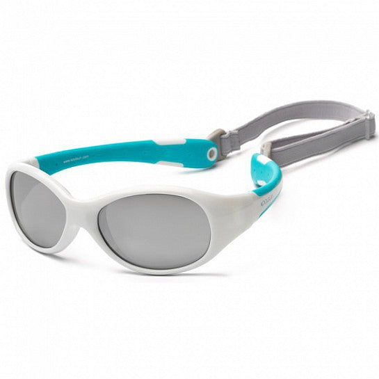 Koolsun Flex Sunglasses White Aqua 3+