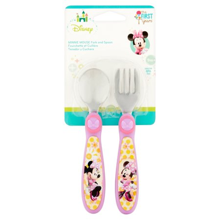 The First Years Disney Easy Grasp Flatware Minnie