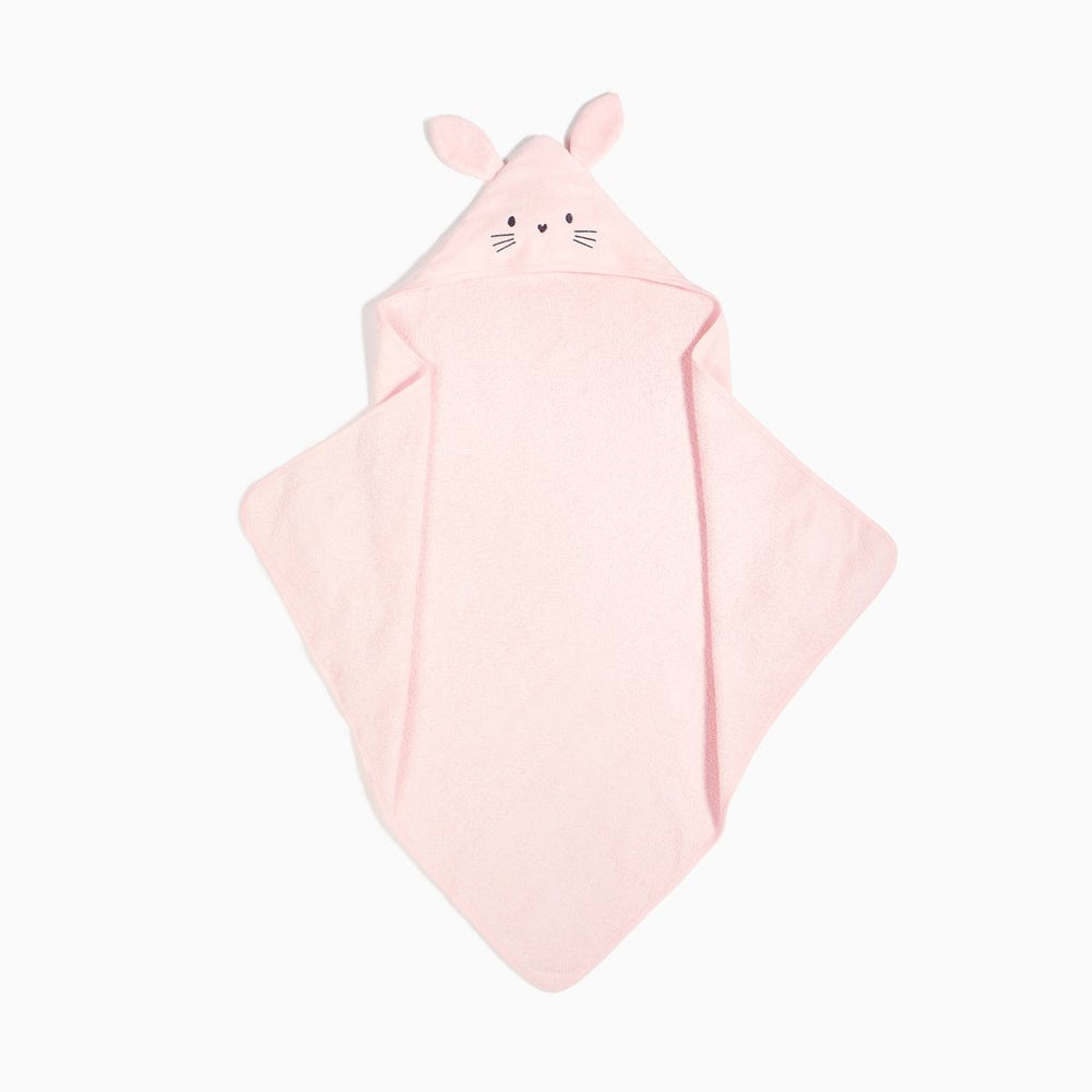 Firsts by Petitlem Hooded Towel Woven Lt Pink 18SR76W656