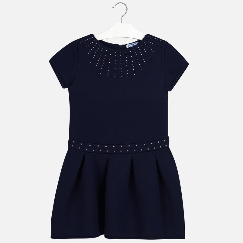 Mayoral Studded Dress for Girl Navy Blue 7939 Size 18