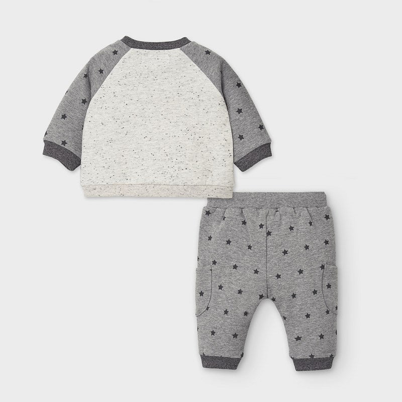 Mayoral Polka dot tracksuit - Grey 2654