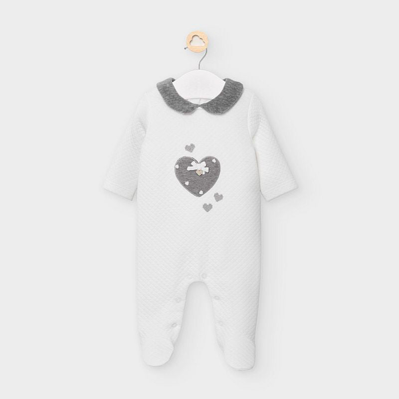 Mayoral Padded babygrow - Off White 2625