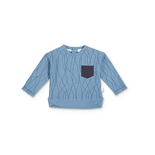 Miles Baby Boy Sweater Shirt Knit Blue