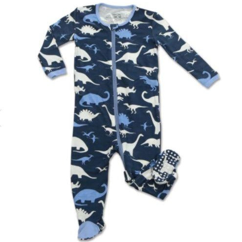 Silkberry Baby Footed Sleeper with Zipper Dino Kingdom WF4198-DKP36