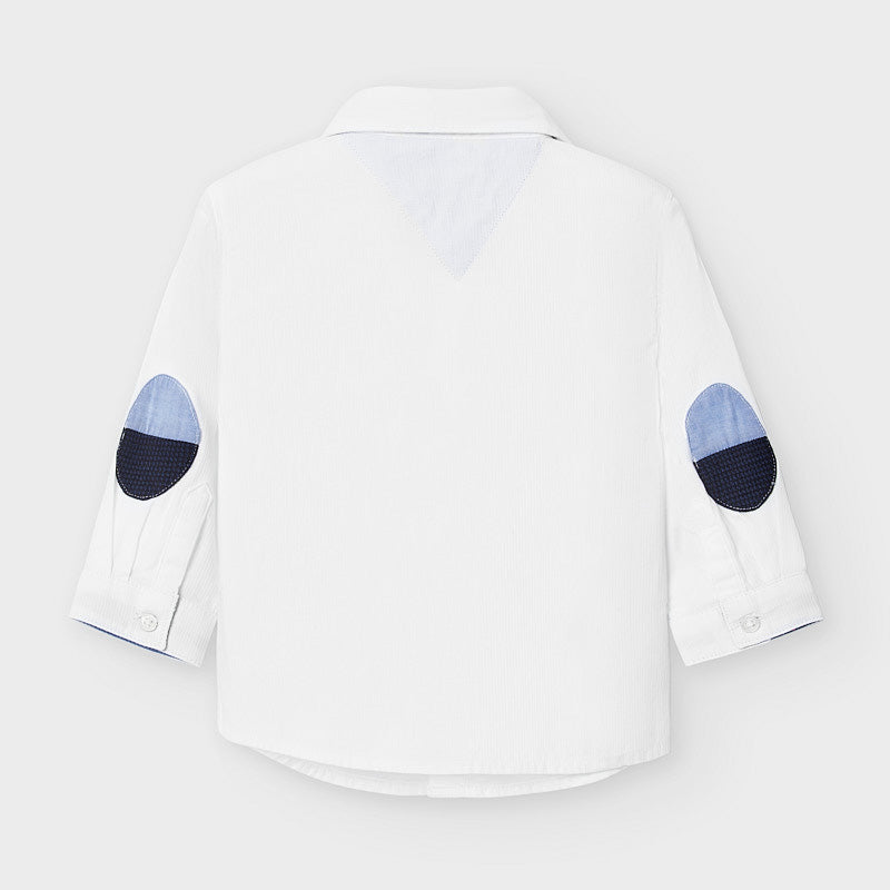 Mayoral Long sleeved shirt with bow-tie - White 2129