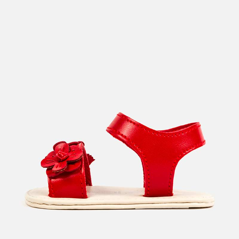 Mayoral Baby Flower Sandals Red