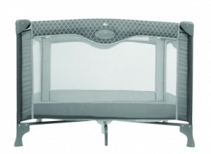 Kidiway Click N' GO Playpen - Silver with Pattern