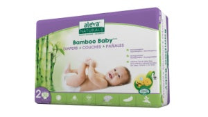 Aleva Bamboo Diapers-Size 2 / 30 ct