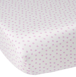 CoCalo Collection Dottie Fitted Sheet - Audrey Pink