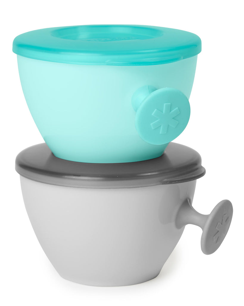 Skip Hop Easy Grip Bowl Set 2pk Grey/Soft Teal