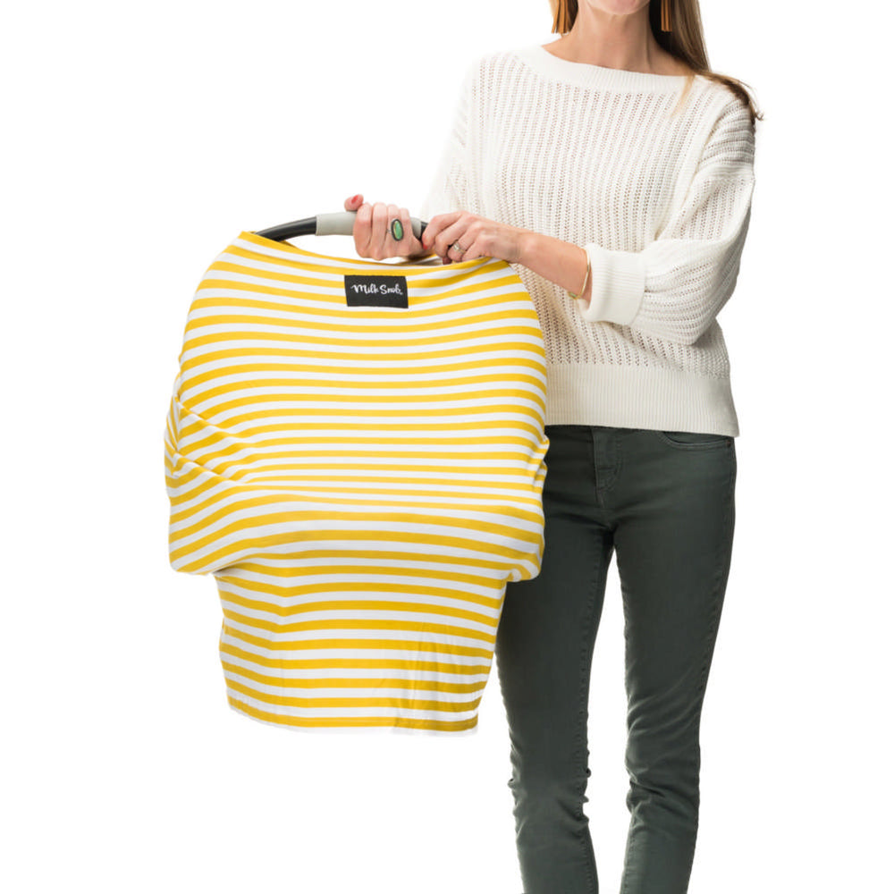 Milk Snob Cover Mustard Stripe